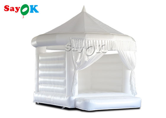 4.5x4.2x4.4mH White Wedding Inflatable Bouncy Castle