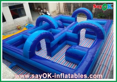 Amusement Park Inflatable Playground 750w Blower 0.5mm PVC Eco-friendly