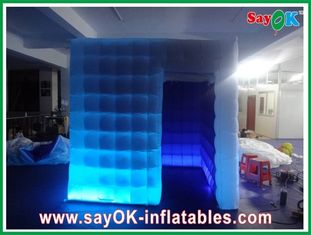 One Door Inflatable Photobooth 210D Oxford Cloth With Led Lights Versatile
