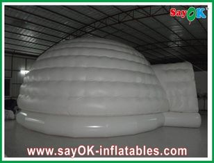 Waterproof Oxford Cloth Inflatable Air Tent White 10m Customed CE