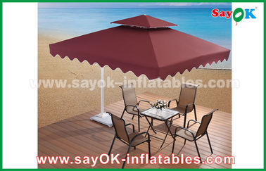2.5 * 2.5M Reklam Sun Umbrella Beach Garden Patio Şemsiye